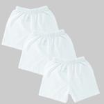 Smart Baby Baby Unisex 3pcs Pack Short , White - NCGSS21SBW08