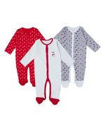 Smart Baby Baby Girls 3 Piece Pack Sleepsuit,Multicolor -TCGLSS21IB62