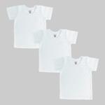 Smart Baby Baby Unisex 3pcs Pack T-Shirt , White - NCGSS21SBW07