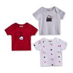 Wonderchild Baby Girls 3-Piece T-Shirt ,Multicolor-WCG1719835