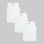 Smart Baby Baby Unisex 3pcs Pack Vest , White - NCGSS21SBW01