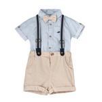 Little Gent Baby Boys 4Pcs Set , White/Beige , JCGS20R18781
