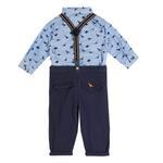 Little Gent Baby Boys 4Pcs Set , Sky Blue/Navy , JCGS20R18548