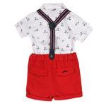 Little Gent Baby Boys 4Pcs Set , White/Red , JCGS20R18410