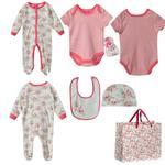 Mini Moi Baby Girl 5 Pieces Combo Set, Baby Pink-JCG16110