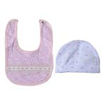 Rock a Bye Baby Baby Girl 5 Pieces Combo Set, Baby Pink-JCG18569