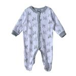 Rock a Bye Baby Baby Unisex 5 Pieces Combo Set, White/Grey-JCG18492
