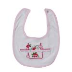 Rock A Bye Baby Baby Unisex 5 Pieces Combo Set, White/Pink-JCGAQMT4C