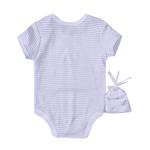 Rock A Bye Baby Baby Unisex 5 Pieces Combo Set, White-JCGQ17014