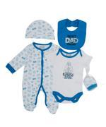Starwars Baby Boys 5pcs Set,Dark Aqua Blue/White-TCGLSS21GP07