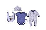Lily & Jack Baby Unisex 5 Pieces Combo Set, White/Navy-JCGQ16956