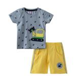 Smart Baby Baby Boy T-shirt With Bermuda Set,Sky Blue/Yellow,SNGS2034975