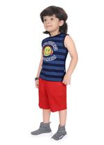 Genius Boys T-shirt with Bermuda Set,Navy/Red,SIMGS21221015