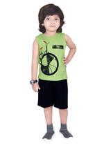 Genius Boys T-shirt with Bermuda Set,Lime/Navy,SIMGS21221009