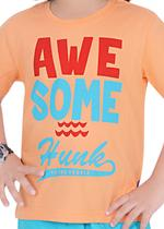 Genius Boys T-shirt with Bermuda Set,Peach/Aqua,SIMGS21211040