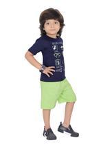Genius Boys T-shirt with Bermuda Set,Navy/Lime,SIMGS21211049