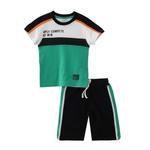 Genius Boys T-shirt With Bermuda Set,Green/Black - SNGS2034628