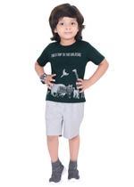 Genius Boys T-shirt with Bermuda Set,Dark Green/Light Grey,SIMGS21211048