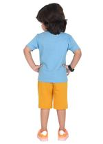 Genius Boys T-shirt with Bermuda Set,Airforce Blue/Gold,SIMGS21211037