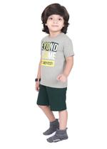 Genius Boys T-shirt with Bermuda Set,Grey/Dark Green-SIMGS21211039
