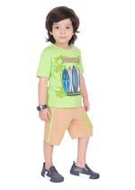 Genius Boys T-shirt with Bermuda Set,LIme/Peanut-SIMGS21211052