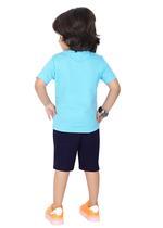 Genius Boys T-shirt with Bermuda Set,Blue/Black-SIMGS21211045
