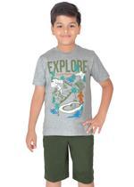 Genius Boys T-shirt with Bermuda Set,Grey/Green-SIMGS21211057