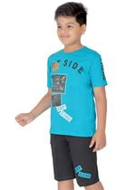 Genius Boys T-shirt with Bermuda Set,Sage Green/Black-SIMGS21211070