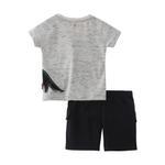 Smart Baby Baby Boy T-shirt With Bermuda Set,Melange/Black,SNGS2035098