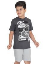 Genius Boys T-shirt with Bermuda Set,Dark Grey/Grey-SIMGS21211063