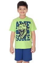 Genius Boys T-shirt with Bermuda Set,Lime/Teal-SIMGS21211059