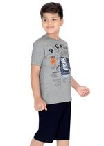 Genius Boys T-shirt with Bermuda Set,Grey/Navy-SIMGS21211061