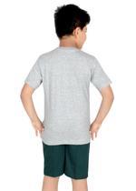Genius Boys T-shirt with Bermuda Set,Grey/Dark Green-SIMGS21211060