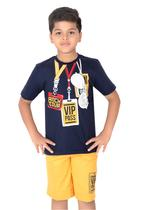 Genius Boys T-shirt with Bermuda Set,Navy/Gold-SIMGS21211069