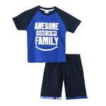 Genius Boys T-shirt With Bermuda Set, Royal Blue/Navy - SNGS2034835