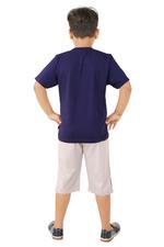 Genius Boys T-shirt With Bermuda Set , Navy/Grey - SNGSS2137154