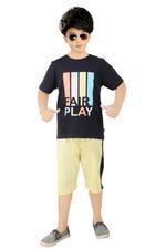 Genius Boys T-shirt With Bermuda Set , Navy/Lemon - SNGSS2137242