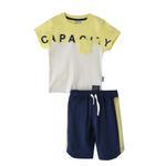 Genius Boys T-shirt With Bermuda Set,Lemon/Airforce - SNGS2034627