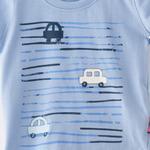 Smart Baby Baby Boys T-shirt With Bermuda Set , Sky Blue/Black - SNGS2034970