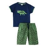 Genius Boys T-shirt With Bermuda Set,Navy/Green - SNGS2034686