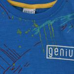 Genius Boys T-shirt With Bermuda Set , Blue/Millanch - SNGS2034646
