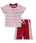 Genius Boys T-shirt With Bermuda Set , Maroon - SNGS2034677