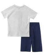 Genius Boys T-shirt With Bermuda Set , White/Air Force - SNGS2034794