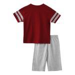 Genius Boys T-shirt With Bermuda Set , Maroon/Millanch - SNGS2034892