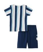Genius Boys T-shirt With Bermuda Set , White/Navy - SNGS2034758