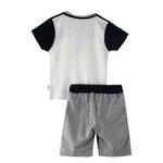 Genius Boys T-shirt With Bermuda Set,White/Grey Melange - SNGS2034690