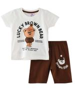 Smart Baby Baby Boys T-Shirt With Bermuda Set,OffWhite/Coffee -SNGSS2137809