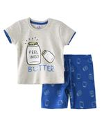 Smart Baby Baby Boys T-Shirt With Bermuda Set,Light Millanch/Royal Blue-SNGSS2137327
