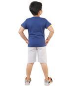Genius Boys T-shirt With Short Set , Navy/Grey Melange - SNGSS2137138