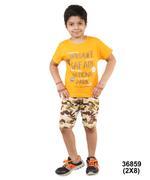 Genius Boys T-Shirt With Bermuda Set,Orange/Accrue - SNGSS2136859